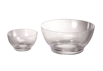 Small and Large Lucite Bowl