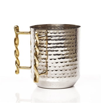 Stainless Steel Washing Cup with Brass Handle