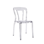 Design Guild Beckett Transparent Clear Chair, Lucite chairs, translucent chair, modern heavy duty plastic chair