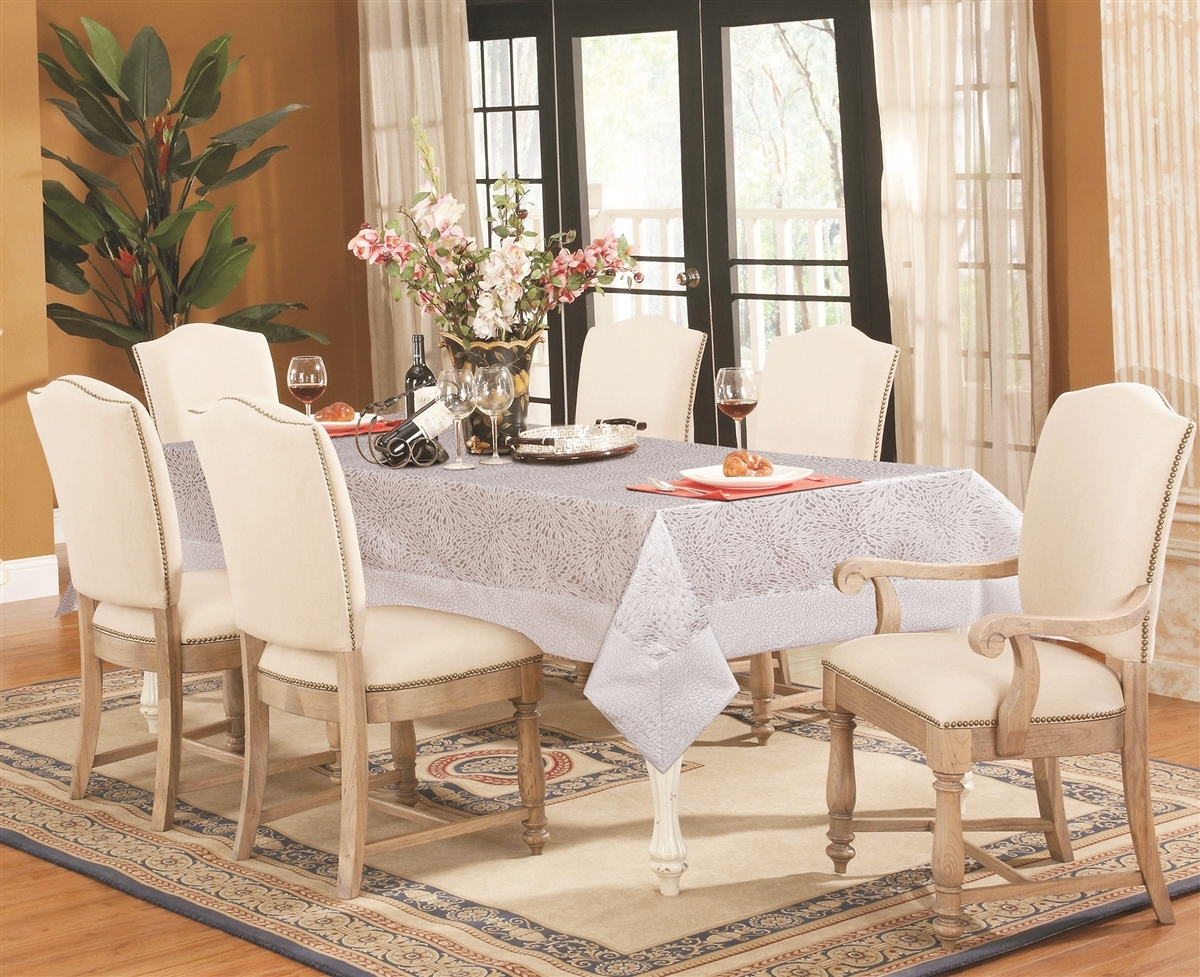 Verona Elegant Silver Tablecloth - Luxury Table Covers