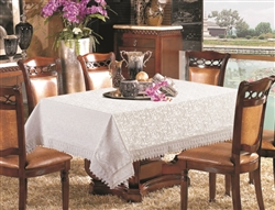 White Lace Print Design Tablecloth