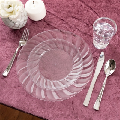 Wholesale Plastic Dinner Plates Bulk Decorative Napkin Rings