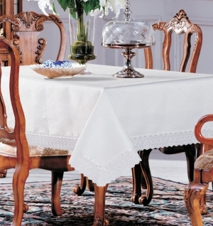Luxury Table Linen & Lace Table Covers - Damask Tablecloth