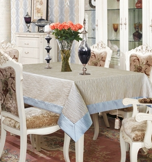 Luxury Table Linen Lace Covers Damask Tablecloth