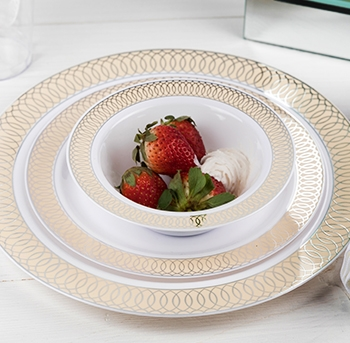 Elegant Disposable Plastic Plates & Bowls for Weddings & Events