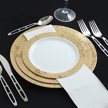 Fancy disposable plastic dinnerware perfect for holidays & disposable plates for wedding reception - Wedding Decor Ideas