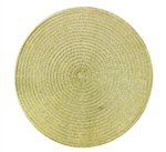 Golden Glitter Swirl Round Charger - Set of 2