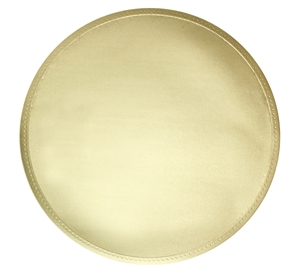 Shiny Golden Round Charger - Set of 2