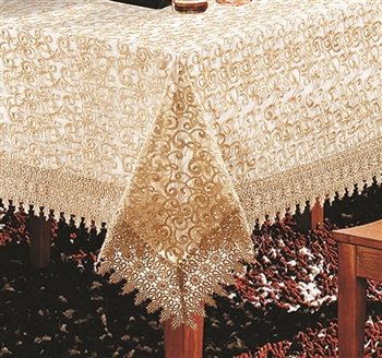 H250 Luxury Tablecloth in Gold