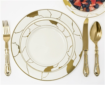 Decor Marble Collection Ivory and Gold