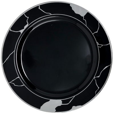 Decor Marble Collection Black and Silver
