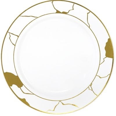 Decor Marble Collection White and Gold