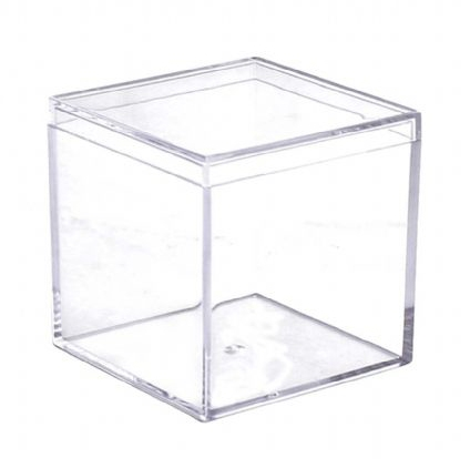Clear Square Boxes w/ Lids - 6 per pack