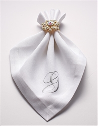 Set of 4 Monogram Napkins - Choose Letter & Color