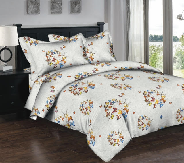 Superior Linen: Butterfly Beauty 6PC Twin Bedding Set