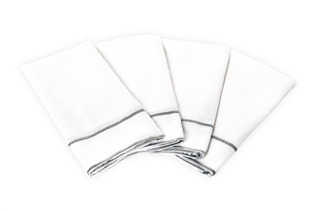 Savoy White Napkins Set of 4 for Weddings & Events
